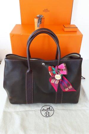 Hermès Bolso marrón oscuro