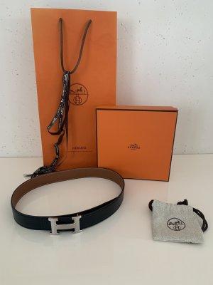 Hermès Cintura di pelle nero-marrone Pelle