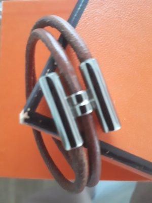 Original Hermès Palladium H-Armband Tournis