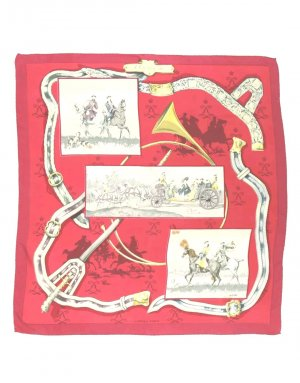 Hermès Silk Cloth carmine-russet