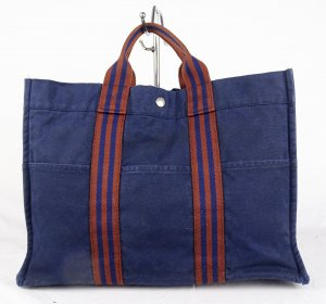 ORIGINAL HÈRMES PARIS FOURRE TOUT MM Navy Handtasche / GUT