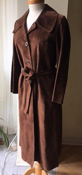 Original Hermès Paris Mantel Wildleder aus den 70-ern Ledermantel