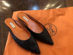 Hermès Scarpa slip-on nero-arancione