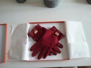 original Hermès Paris Nubuk Leder Handschuhe
