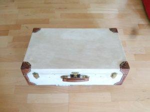 Hermès Maleta coñac-blanco puro