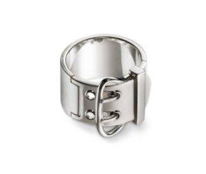 Original HERMES Ring Gr. 54 Bague Boucle 925 Silber + Box + Dust Bag OVP NEU
