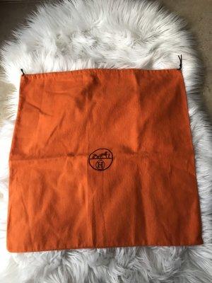 Hermès Stoffen tas donkerbruin-oranje