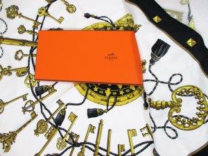 Original Hermès Tuch Les Clés/Schlüsselmotiv/Schwarz-Weiss-Gold/Hervorragend!