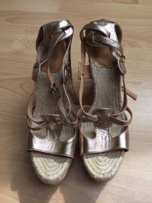 Hermès Wedge Sandals bronze-colored-gold-colored