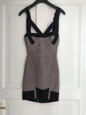 Original Herve Leger Dress grey/black Size XS