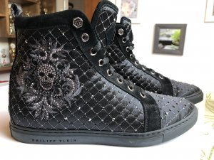 Philipp Plein High Top Sneaker black-silver-colored