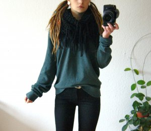 Original Hilfiger Kaschmirpullover flaschengrün, oversized Pullover Hilfiger, cozy hygge blogger