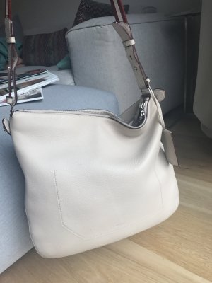 Original Hobo Bag von Bally in elfenbeinfarbem Leder inklusive Staubbeutel