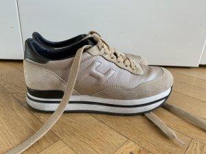 Original HOGAN H222 Plateau Sneaker gold beige wNeu 36 37