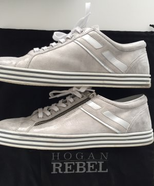 Original Hogan Rebel sneaker silber/grau Metalliclook
