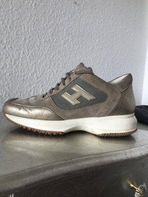 Original HOGAN Tods  Interactive Sneaker Turnschuhe 36 Blogger gold khaki