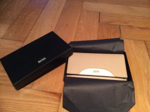 Original Hugo Boss Clutch Organizer in beige NEU & OVP