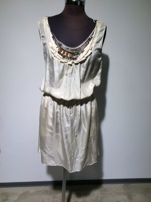 ORIGINAL HUGO BOSS ORANGE Seidenkleid, Größe 36, Farbe creme white
