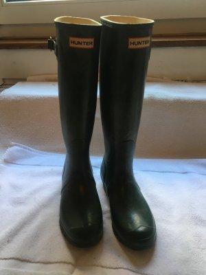 Hunter Wellington laarzen donkergroen-bos Groen