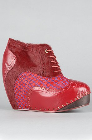 "ORIGINAL Irregular Choice Plateau Wedges ""What an Angel in Red"" 38,5"