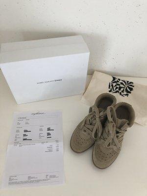 Isabel Marant Sneaker con zeppa beige