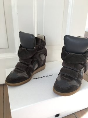 Original Isabel Marant Étoile Bekett Sneaker Wedges 37 Leder grau