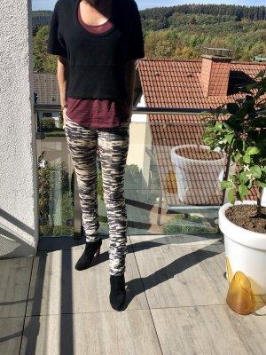 Isabel Marant Étoile Pantalon en velours côtelé blanc-noir