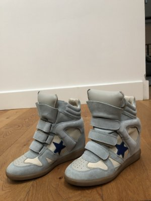 Isabel Marant Sneaker con zeppa azzurro-blu