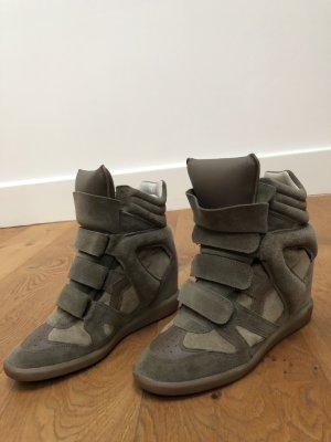 Original Isabel Marant Sneaker aus Velourleder mit Keilabsatz, Gr. 38, wie neu!!!!