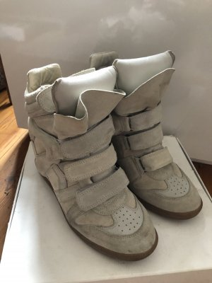 Original Isabel Marant Sneaker Blogger beige Creme Keilabsatz Gr  41