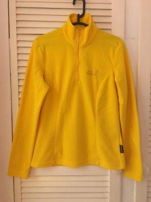 Original Jack Wolfskin Sweater in knalligem Gelb