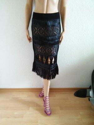 Jean Paul Gaultier Falda negro-nude