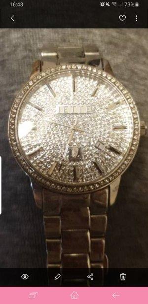 Jette Reloj con pulsera metálica color plata