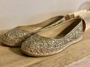 Original Jimmy Choo Ballerinas Gold Top Zustand 38,5 Glitzer