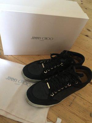 Original Jimmy Choo Sneaker Gr. 39 1/2 schwarz Glitzer Verpackung