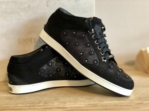 Original Jimmy Choo Sneakers Bells Black Suede Mixed Crystal Hotfix