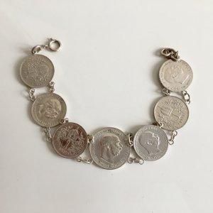 Original Jugendstil ca. 1915 Silberarmband 925 835 Silbermünzen antik