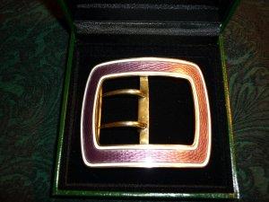 Original Jugendstil Gürtelschnalle aus echtem Silber vergoldet