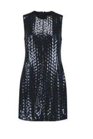 Original JUST CAVALLI Kleid (NEU), dunkelblau, Pailetten, 44, Designerkleid