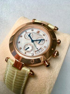 Reloj con pulsera de cuero multicolor acero inoxidable