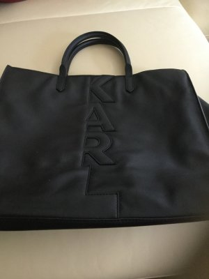 Karl Lagerfeld Carry Bag black leather