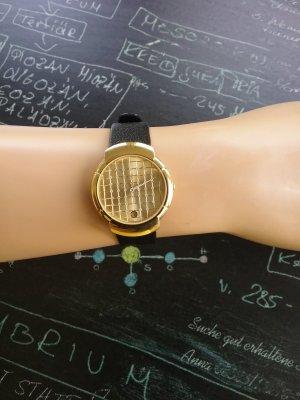 original Karl Lagerfeld Uhr vergoldet mit Diamanten