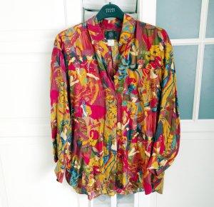Original KENZO vintage Bluse Hemd Top Shirt Gr S-M Top Zustand