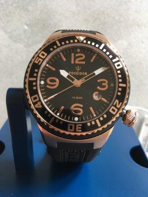 Kienzle Reloj analógico color rosa dorado-negro acero inoxidable