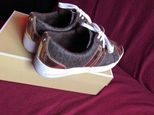 Michael Kors Lace-Up Sneaker dark brown