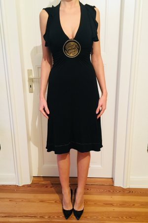 Cavalli Evening Dress black-gold-colored