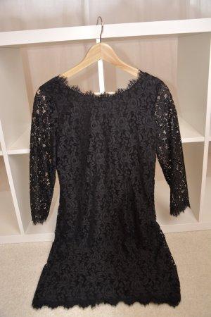 Original Kleid Zarita mit floraler Spitze schwarz