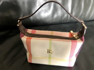 Original kleine Burberry Handtasche Rosa Beige Authentic Luxus Bag Blogger Clutch