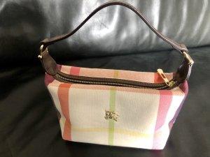 Original kleine Burberry Handtasche Rosa Beige Authentic Luxus Bag Blogger Clutch