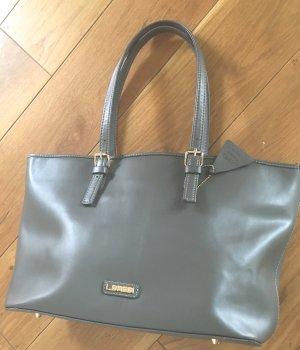 Original L.Credi  großer Shopper- Tote Bag grau ECHTLEDER
